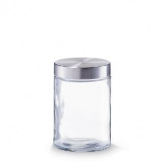 6 Zeller Vorrats Gläser 1100 ml mit Edelstahl Deckel, Dose Behälter Glas Set