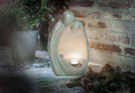 """Design Kerzen Ständer """" Heilige Familie"""" 52 cm hoch, aus Zement, Innen + Außen"""