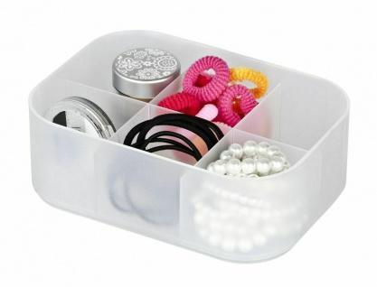 Wenko Bad Kosmetik Organizer Ice Cube Weiß 3 Aufbewahrungs Boxen Stapelbar - Vorschau 2