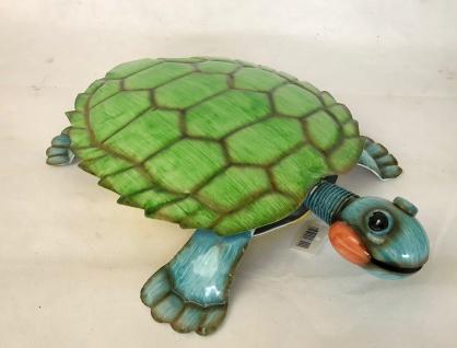 riesige Schildkröte aus Metall, bunt / grün / gelb, Garten Deko Figur Skulptur