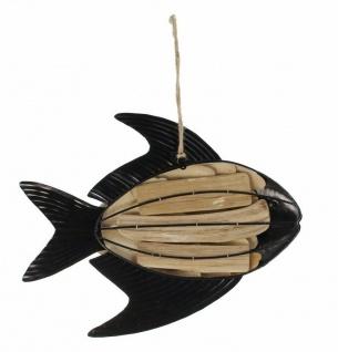 "Hänger ??Fisch"" aus Holz & Metall braun Deko Wand Tür Fenster Mobile Verzierung - Vorschau 4"