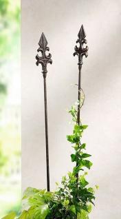 """2 Metall Garten Stecker """" Französische Lilie"""", 110 cm, Beet Sticker Garten Deko"""