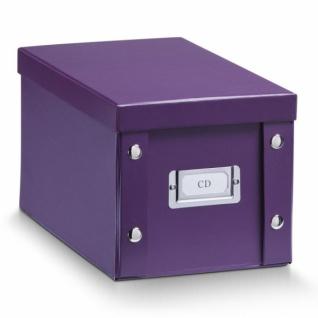 2x ZELLER CD BOX mit DECKEL lila für 20 CD's AUFBEWAHRUNG KISTE KARTON CASE