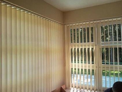 Vertikal Lamellen Vorhang grau, 100x180 cm, Komplett Set, Textil Jalousie Rollo