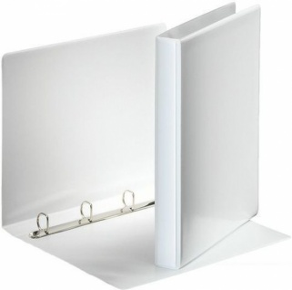 10 STÜCK PRÄSENTATIONS RINGBUCH A4 ORDNER 45mm weiß RINGBUCHMAPPE NEU