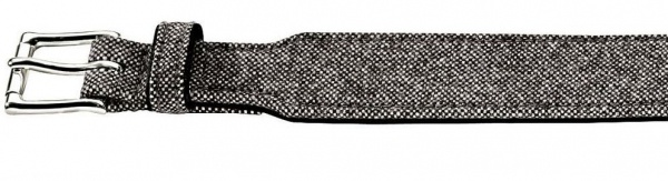 HUNTER STOFF / LEDER HALSBAND Textile Salt & Pepper grau / schwarz 51 - 58, 5 cm
