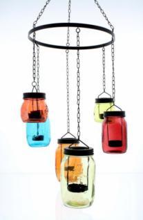 Windlicht-hÄnger 'coloured Glasses' Laterne Teelichthalter Glas Ethno Look Neu - Vorschau 2