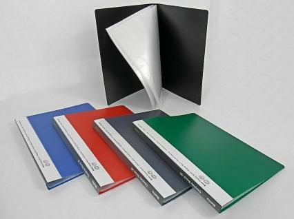 10x BIELLA SICHTBUCH schwarz mit 30 A4 SICHTHÜLLEN für 60 Blatt NEU SICHTMAPPE