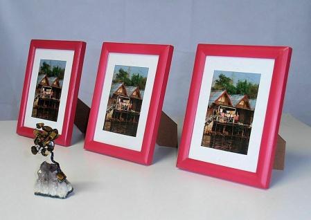 12x Holz Bilderrahmen, rot, 9, 5x14 / 10x15 Foto Rahmen Collage Galerie 14x19