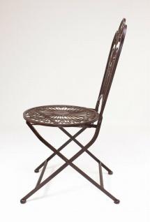 """Metall Klappstuhl """" Provence"""" im Antik Design Nostalgie Eisen Garten Balkon Stuhl - Vorschau 4"""