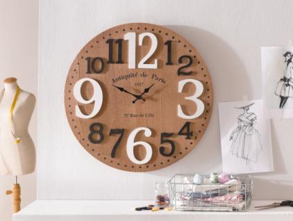 Wand Uhr 'Rustique? Ø 58 cm Analog Küchenuhr Wohnzimmer Deko