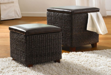sitzhocker leder braun online bestellen bei yatego. Black Bedroom Furniture Sets. Home Design Ideas