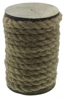 """3x 5m Deko Kordel """" Natur"""", braun, auf Holz Spule, Zier Schnur Seil Band 15 Meter - Vorschau 2"""