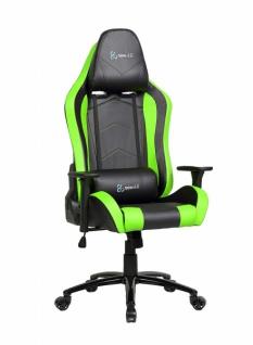 Newskill Takamikura Gaming Stuhl PU Leder schwarz grün Büro Office Dreh Sessel #