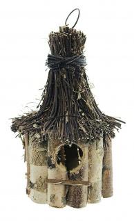 """Vogelhaus """" Birke"""" aus Holz zum Hängen, Vogel Häuschen Nist Platz Kasten - Vorschau 3"""