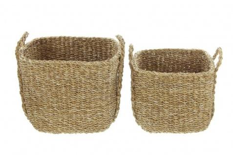 2 Universal Körbe aus Seegras Wäsche Korb Übertopf Aufbewahrungs Kiste Truhe Set - Vorschau 3