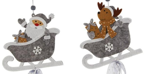 2er Filz-Hänger 'Santa & Rentier Deko Weihnachten Christbaum Schmuck Verzierung - Vorschau 4