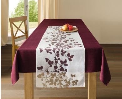 """Tischdecke """" Bordeaux"""" groß, 140x240 cm Tafeldecke weinrot rot Tisch Tuch Wäsche"""