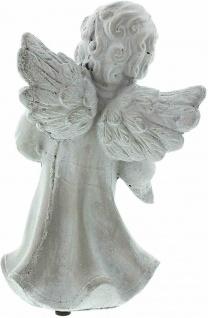 """Engel Figur """" Vogelfreund"""" 19x9x20 cm Grab Schmuck Christlich Heaven Tisch Deko - Vorschau 5"""