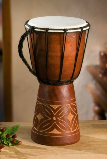 "Trommel "" Bali"" handgefertigt! 30 cm hoch, Bechertrommel Afrika Deko Djembe Drum"