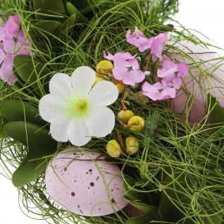 Frühlings Osterkranz Ø 32 cm Deko Kranz Oster Eier Blumen Kerzen Halter Ständer - Vorschau 4