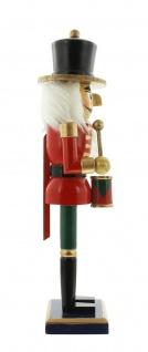 """Nussknacker """" Trommler"""" aus Holz, rot, 36 cm, Advents Weihnachts Deko Figur - Vorschau 5"""