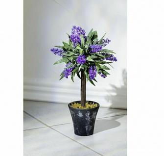 Deko Lavendel im Topf, Kunstpflanze 28cm hoch, künstliche Blume Pflanze Bäumchen