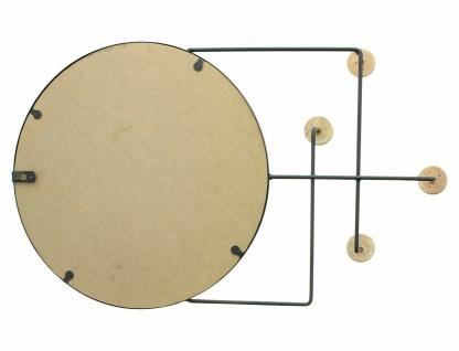 Metall & Holz Garderobe mit Spiegel, 4 Haken, modern, Flur Wand Kleider Halter - Vorschau 4