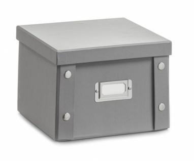2x Zeller DVD Box mit Deckel, grau, für 26 DVD's Aufbewahrung Kiste Karton Case