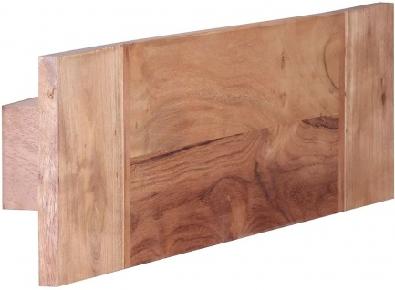 Wohnling WL Wand Handtuchhalter aus Massiv Holz Akazie, 50 cm
