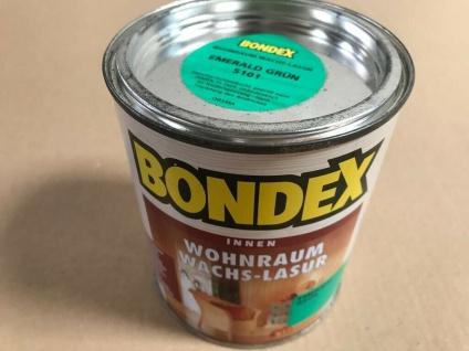Bondex Wohnraum Wachs Lasur, emerald grün, 0, 75 Liter Holz Schutz 10, 6€/L - Vorschau 2