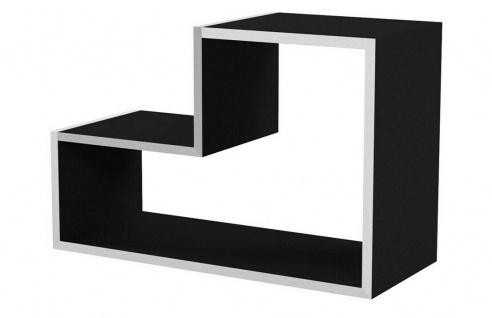 CRIBEL Design Regal Modul LEGO aus Holz, schwarz, Bücher Deko Wand Board System