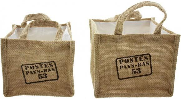 2x Pflanz Tasche aus Jute, Blumen Topf, Pflanz Schale, Korb Pflanzer - Vorschau 2