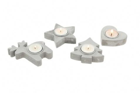 4er Teelicht Halter 'Winter? Metall Kerzen Ständer Windlicht Weihnachten - Vorschau 4