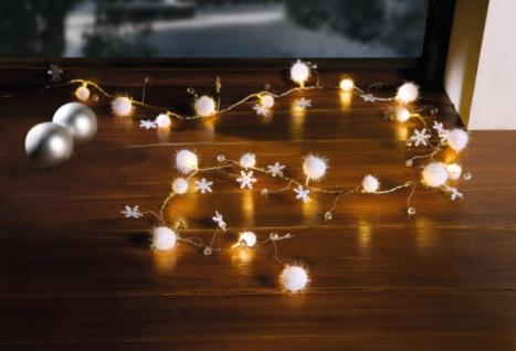 """LED Lichterkette """" Schneekugeln"""" für Innen, Batterie Weihnachten X-MAS Deko Kugel"""