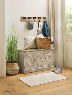 Holz Kommode im Shabby Look, weiß, 3 Türen, Flur Schrank Sideboard Landhaus Stil