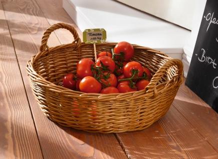 große Schale aus Weide, natur, Ø 47 cm, Obst Gemüse Buffet Deko Flecht Korb