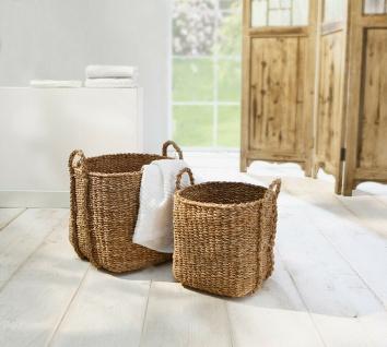 2 Universal Körbe aus Seegras Wäsche Korb Übertopf Aufbewahrungs Kiste Truhe Set - Vorschau 1