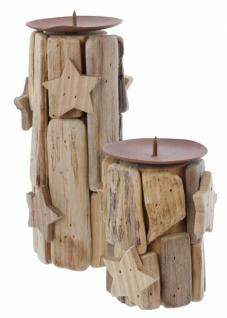 2er Kerzenhalter Sternchen Kerzen Halter Ständer Windlicht Weihnachten Teelicht - Vorschau 3