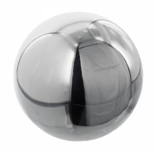 Deko Kugel 'spiegelglanz? Silber Aus Metall Ø 19 Cm Garten Terrasse Rosen - Vorschau 2