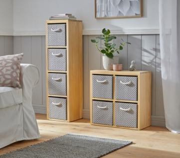 """Kommode """" Modern"""" aus Holz mit 4 Schubladen / Boxen, 2x2 Regal Schrank Sideboard"""