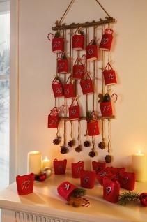 DIY Advents Kalender mit 24 Klammern, Holz Memo Notiz Pin Board Wand Foto Rahmen