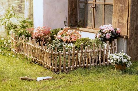 Beet Zaun aus Birken Holz, 2m lang, Rasen Kante Umrandung Einfassung Garten