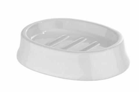 3tlg. Wenko Bad Set Slope Keramik Weiß Seifenspender Zahnputzbecher Seifenschale - Vorschau 3