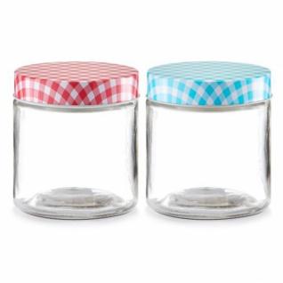 """Zeller Vorrats Glas """" Country"""" 750 ml mit Deckel, blau, Vorrats Gefäss Behälter"""