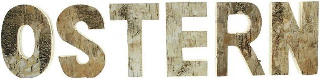 """Schriftzug ?Ostern"""" aus Holz 6 Deko Buchstaben Flur Haus Zimmer Tisch Dekoration - Vorschau 2"""