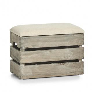 Zeller Sitz Truhe aus Holz, Stauraum für 8 Flaschen, Flur Schuh Bank Kiste Box