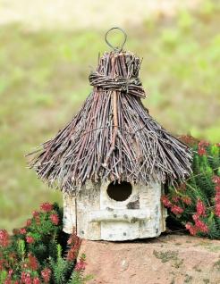 """Vogelhaus """" Birke"""" aus Holz zum Hängen, Vogel Häuschen Nist Platz Kasten"""