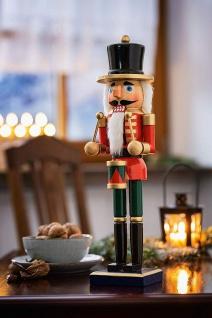 """Nussknacker """" Trommler"""" aus Holz, rot, 36 cm, Advents Weihnachts Deko Figur - Vorschau 1"""