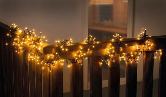 Büschel Lichterkette mit 384 LED für Innen & Außen Garten Weihnachts Beleuchtung